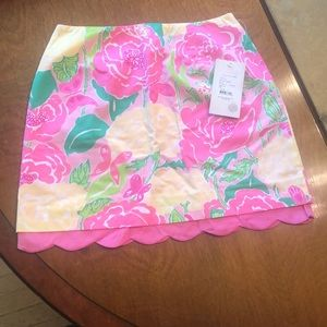 Vintage Lilly Pulitzer Floral  Skirt